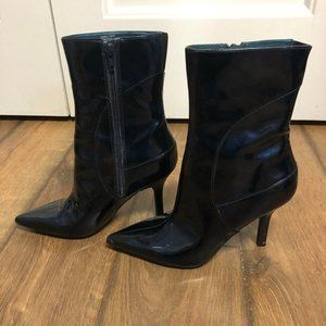 Nine West Patent Blue Boots